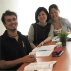 Studdents learning Chinese at the Shanghai language school